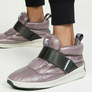 Sorel Puffy Platform Sneakers Waterproof Purple